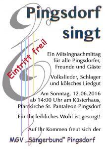 Pingsdorf singt